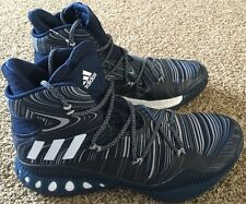 Mens Adidas Crazy Explosive Basketball Shoe Navy Blue White Size 9 B42418