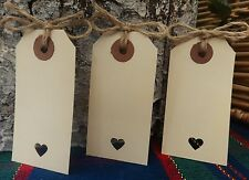 75 Vintage Rustic Cream Luggage Tags Wedding Favour Place Card Wish Tree twine