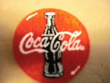"COCA-COLA  WITH BOTTLE 2 1/4"" ROUND NEW CLOTHING PATCH"