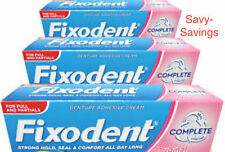 Fixodent Original Denture Adhesive Cream  3 x 47g Packs (For Partials)