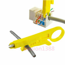 Connection Wire Punch Down Network UTP RJ45 Cat5 Cable Cutter Stripper Plier efo