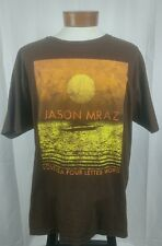 "Jason Mraz ""Love is a four letter word"" Organic Cotton Concert Tour T-Shirt XL"