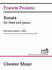 Francis Poulenc Sonata PLAY Classical FLUTE PIANO Music Book & Download Card