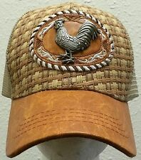 NEW ROOSTER FOWL COCK CHICKEN AMERICAN MEXICO MEXICAN PATCH TRUCKER MESH CAP HAT