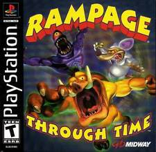 Rampage Through Time - PS1 PS2 Playstation Game