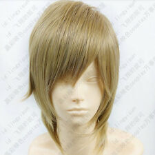 300 Dynasty Warriors 7 Guo Jia 356 Short Blond mix Cosplay Wig free shipping