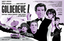 "James Bond 007 | Pierce Brosnan | Goldeneye | Fan Art 17 x 11"" Print"