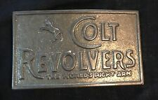VINTAGE COLT REVOLVERS THE WORLDS RIGHT ARM BELT BUCKLE BUCKLES