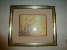 "Johnny Lung Master Artist ""Swallows"" Framed and Matted print 35C"