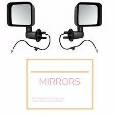 Black Door Side Heated Mirror Kit Both Sides fits Jeep Wrangler JK 2011-2014