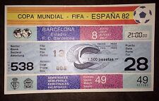 1982 WORLD CUP Semi-Final Ticket:- Italy v Poland  (Counterfoil & Watermark) #49