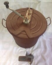 Antique 1904 Universal Bread Maker Dough Mixer No. 4, Complete, Rusty