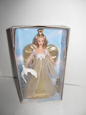Angelic Inspiration Barbie Doll 1999 NRFB Gold Dress Blonde Hair Singing Dove
