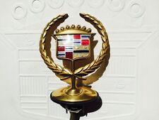 2000 2001 2002 Cadillac DeVille DTS gold Motorhauben Emblem Hood Ornament 2003