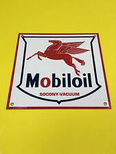 Mobile oil pegasus gasoline racing vintage advertising sign