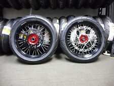 "SUPERMOTO COMPLETE 17""  WHEELS WITH TIRES HONDA CRF450 X RED 11732"