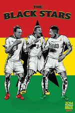 2014 FIFA World Cup Soccer Event Brazil | TEAM GHANA Poster | 11 x 17 Inches