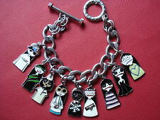 MARC JACOBS MISS MARK ENAMEL CHARM BRACELET HEAVYWEIGHT VERY RARE NEW