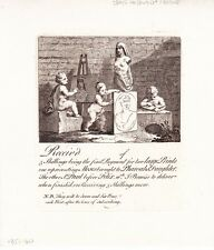 """1822 Two Hogarth Engravings - """" Boys Peeping at Nature"""" - Subscription Tickets"""