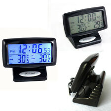2 in 1 Car Kit Electronic Digital Clock Thermometer of Indoor Outdoor Useful LU