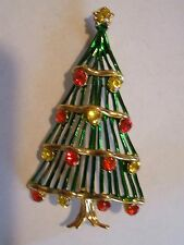 Old  Christmas  Tree  Pin   - Signed  HEDY