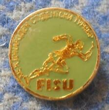FISU INTERNATIONAL TOURNAMENT UNIVERSITY BULGARIA 1980's PIN BADGE