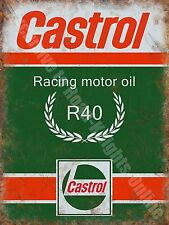 Castrol R Racing Motor Oil, 135 Petrol Old Vintage Garage Novelty Fridge Magnet
