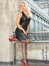 Lederkleid Leder Kleid Mini Schwarz Neckholder Maßanfertigung