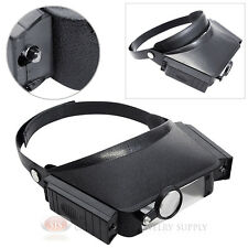 Lighted Magnifier Illuminated Head Magnifying Lens 10.5x Mutli Power Jewelers