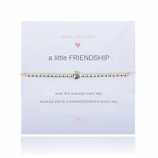 Joma Jewellery Girls a little friendship CHILDRENS silver heart pink bracelet