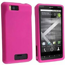 Silicone Skin Case for Motorola Droid X - Hot Pink