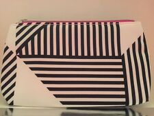 Clinique Signature Cosmetic Case Bag BLACK & WHITE New - purse size travel