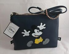 BNWT DISNEY MICKEY MOUSE Navy Shoulder Bag HandBag Primark NEW Blue