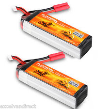 2x 4S 14.8V 25C 4000mAh LiPo Battery HXT4mm for RC Car Boat Helicopter Airplane