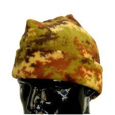 Bustina Cappello Militare a 3 Tre Punte in Pile Mimetica Vegetata Esercito