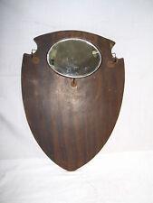 Kleiderbürsten-Halter mit Spiegel , aus Holz