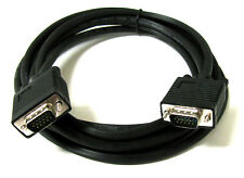 10FT 15 PIN BLACK SVGA VGA ADAPTER Monitor M/M Male To Male Cable CORD FOR PC TV