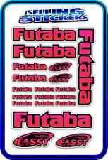 FUTABA SERVO RADIO RX TX 2.4G FLIGHT REMOTE CONTROL STICKERS FASST RED PINK B