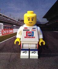 Lego Custom Minifigure Kevin Schwantz Pepsi Suzuki With Helmet