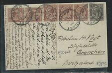 EAST AFRICA AND UGANDA (3009B) 1916 KGV 6C ON PPC CENSORED TO BELGIAN ARMY
