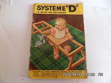 SYSTEME D N°156 DECEMBRE 1958 PARC PROMENEUR POUR BEBE ESCABEAU PLIANT    G76