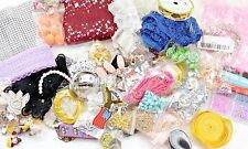 Huge Lot of Jewelry Crafting Supplies Beads Chain Cord Hardware Charms Lace 5lb