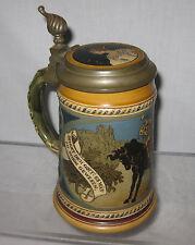 METTLACH GERMAN ETCHED BEER STEIN SIGNED # 2008 ca.1900