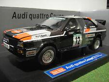 AUDI QUATTRO coupé RALLYE Portugal 1981 au 1/18 SUNSTAR 4184 voiture miniature