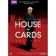 House of Cards Trilogy: The Original UK Series (DVD, 2013, 4-Disc Set) BRAND NEW