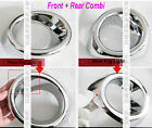 For 2008 09 10 Toyota Highlander Chrome Fog Light Cover 2 Front + 2 Rear Trims