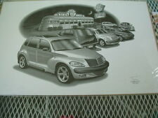"2001 PT Cruiser, Thom SanSoucie, Hand Signed Print #4800, 11"" x 17"""