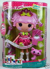 Lalaloopsy Super Silly Party Limited Edition JEWEL SPARKLES Full Size Doll +CAT