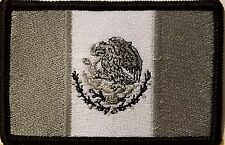 MEXICO Flag Patch with VELCRO Brand Fastener Black Border Version # 1