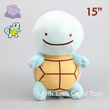 Giant Pokemon Metamon Cosplay Transform Ditto SQUIRTLE Plush Doll Soft Toy 15''